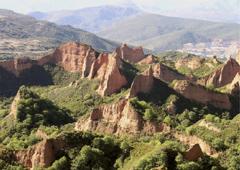 Erosión minería romana Las Médulas