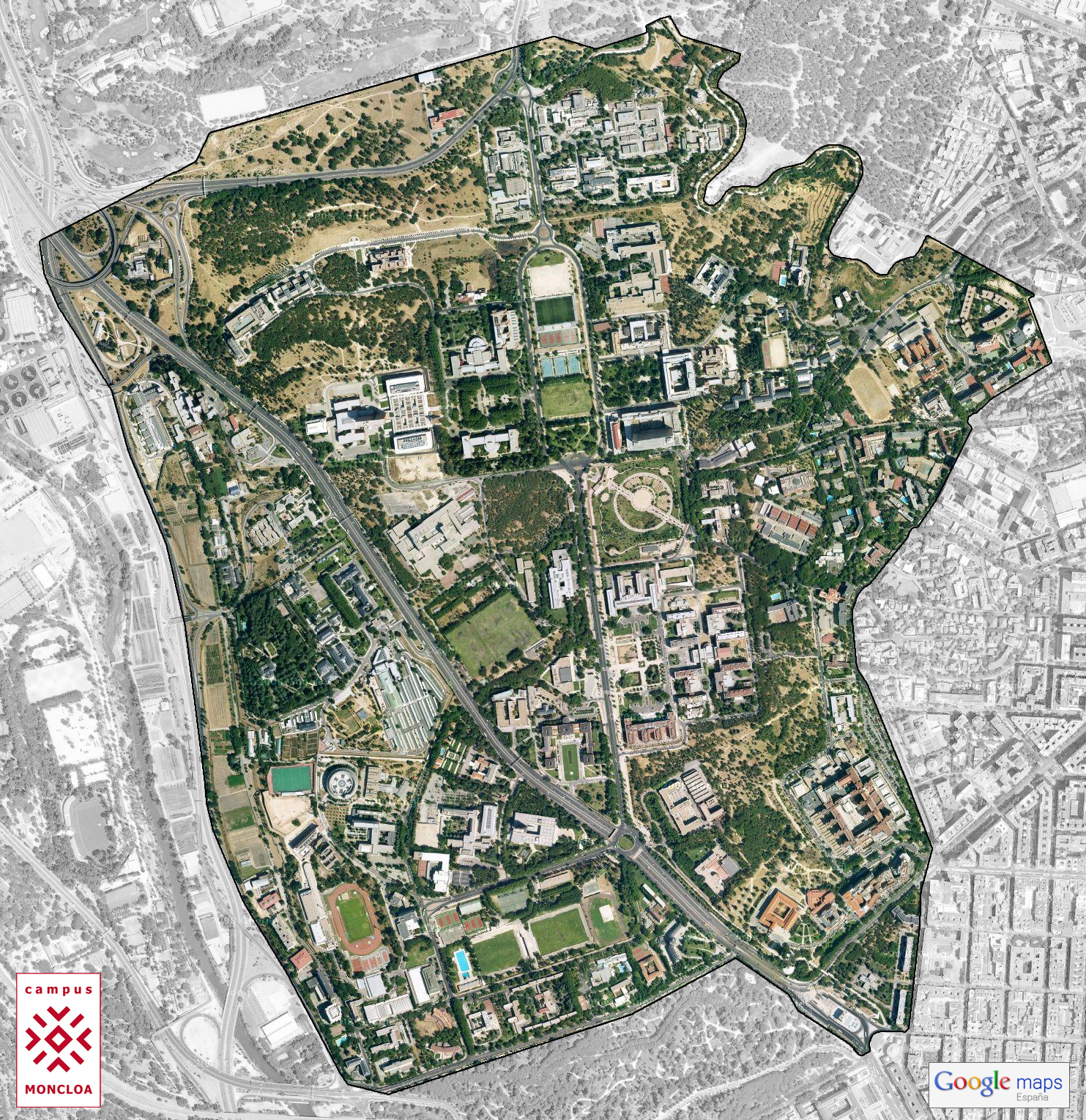 Campus Moncloa Map