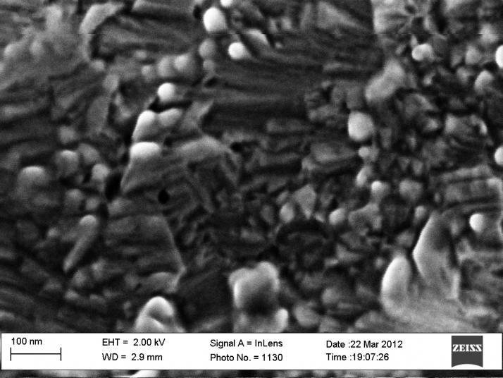 Imagen de un recubrimiento nanoestructurado de wolframio a 400.000 aumentos. Cortesía de Jose Ygnacio Pastor