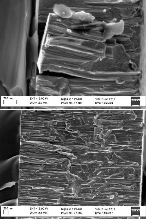 Imágenes de recubrimiento nanoestructurados de wolframio sobre silicio. Cortesía de Jose Ygnacio Pastor.