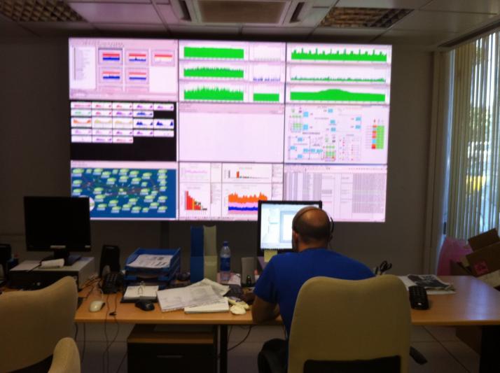 Vista del CPD, 24 horas de monitorización, durante todo el año