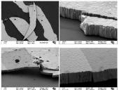 Imágenes de un recubrimiento nanoestructurado de wolframio. Cortesía de Elena Tejado.