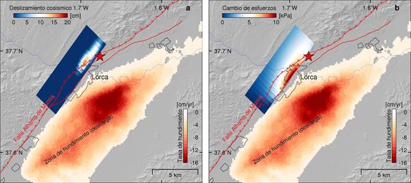 El hundimiento del terreno de Lorca influyó en las características del terremoto de 2011
