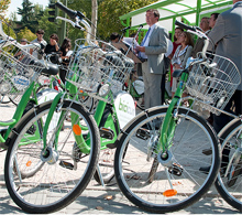 Bicycle hire service at Moncloa Campus