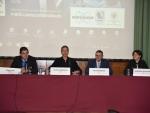 Pedro Cano, Gustavo Domínguez, Lucas Domínguez y Margarita Ruiz-Altisent. Jornada de Identificación Microbiológica por Espectrometría de Masas MALDI Biotyper